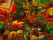 Illusions of Stained Glass Stock Images