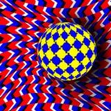 Illusions-Vektor Optische Kunst 3d Rotations-dynamischer optischer Effekt Strudel-Illusion Bewegung durchgeführt in der Form lizenzfreie abbildung