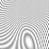 Illusive achtergrond met zwarte chaotische lijnen, moiréstijl Stock Foto's