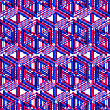 Illusive continuous colorful pattern, decorative abstract backgr Royalty Free Stock Images