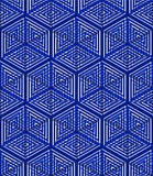 Illusive continuous colorful pattern, decorative Royalty Free Stock Photo