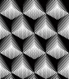 Illusive continuous monochrome pattern, decorative abstract back Royalty Free Stock Images