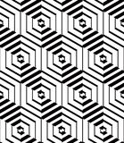 Illusive continuous monochrome pattern, decorative abstract back Royalty Free Stock Image