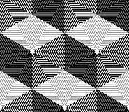 Illusive continuous monochrome pattern, decorative abstract back Stock Photography