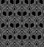 Illusive continuous monochrome pattern, decorative abstract back Stock Photos