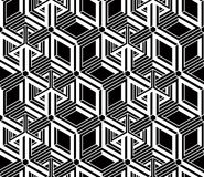 Illusive continuous monochrome pattern, decorative abstract back Royalty Free Stock Photography
