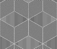 Illusive continuous monochrome pattern, decorative abstract back Royalty Free Stock Photos