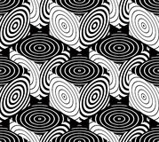 Illusive continuous monochrome pattern, decorative abstract Royalty Free Stock Photography