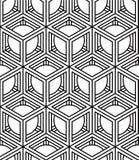 Illusive ononderbroken zwart-wit patroon, decoratieve abstracte rug Stock Afbeelding