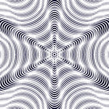 Illusive vector background with black chaotic lines, moire style Stock Photo