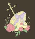 Illusnration duży Wielkanocny jajko Zdjęcia Royalty Free