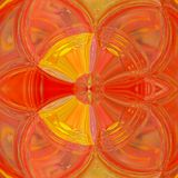 Illusory Psychedelic Background with stained glass effect, in autumn colors: yellow and orange. Illusory Psychedelic Background with stained glass effect, in stock images