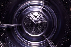 Illusory space inside washing machine Stock Images