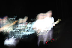 Illusory and Unreal Shot at a Rock Band Concert Stock Image