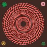 Illusory wheel  print Royalty Free Stock Photo