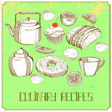 Illusration with bakery elements Stock Images