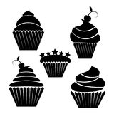 Illusration of cupcakes Stock Photo