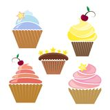 Illusration of cupcakes Stock Images