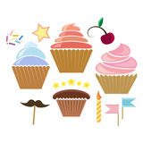 Illusration of cupcakes Royalty Free Stock Photo