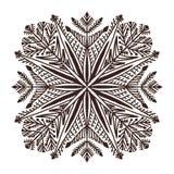 Illusration di Natale del fiocco di neve Pagina adulta del libro da colorare Stampa creativa del nuovo anno illustrazione vettoriale
