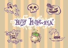 Illusrations di lerciume di Halloween Fotografia Stock Libera da Diritti