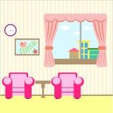 Sala agradável com uma janela Foto de Stock Royalty Free