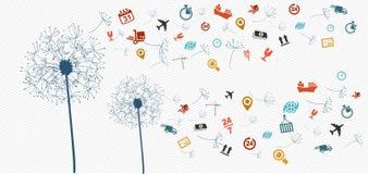 Illust одуванчика значков снабжения доставки абстрактное бесплатная иллюстрация