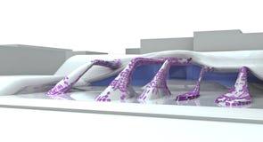 Illust futurista da arquitetura Imagens de Stock