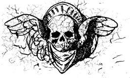 Illust texturisé d'ornement de crâne photographie stock libre de droits