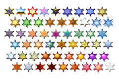 Illustarions sheriff star 03. Bunch of Sheriff stars illustrations with various graphic effects vector illustration