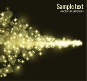 Illustartion του χρυσού ακτινοβολώντας κύκλου σκόνης αστεριών Στοκ εικόνες με δικαίωμα ελεύθερης χρήσης