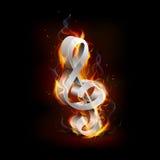 Пламенистое нот Стоковое Изображение