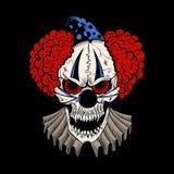 Illustartion av den onda clownen för tecknad film Arkivbilder