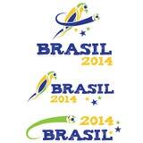 Illustartion Brasilien 2014 med papegojan Royaltyfri Fotografi