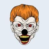 Illustartion of cartoon scary clown Stock Photo