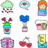 Illustartion of love romance doodles Royalty Free Stock Photography