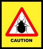 Illustated Bedbug Caution royalty free illustration