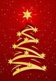 illustation bożego narodzenia stylizowany drzewo Fotografia Stock