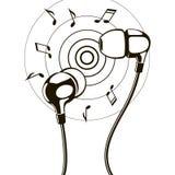 Illustation de auriculares Fotografía de archivo