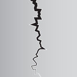 Illustation de vecteur de fente de la terre Vecteur courant illustration stock