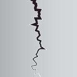 Illustation för jordsprickavektor Materielvektor stock illustrationer