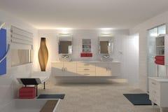 Illustation moderne de salle de bains illustration de vecteur