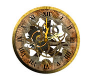 Old clock with roman numbers. Illustation Old clock with roman numbers on white background Royalty Free Stock Images