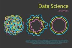 Illustation piano di grande di dati di informazioni vettore di analisi dei dati illustrazione vettoriale
