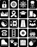 Ensemble d'icônes Images libres de droits