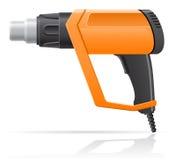Illustr électrique de vecteur d'arme à feu de dessiccateur d'air chaud de bâtiment Photo libre de droits