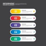 Illustr do elemento do projeto da disposição do relatório comercial de Infographic Imagens de Stock