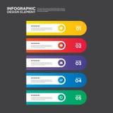 Illustr do elemento do projeto da disposição do relatório comercial de Infographic Foto de Stock Royalty Free