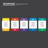 Illustr do elemento do projeto da disposição do relatório comercial de Infographic Imagem de Stock Royalty Free