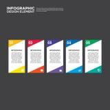 Illustr do elemento do projeto da disposição do relatório comercial de Infographic Imagem de Stock